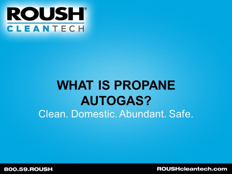 WHAT IS PROPANE AUTOGAS Clean. Domestic. Abundant. Safe.