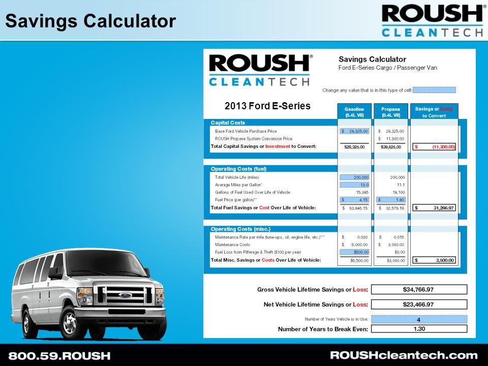 Savings Calculator 2013 Ford E-Series
