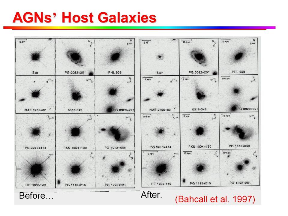 AGNs ' Host Galaxies