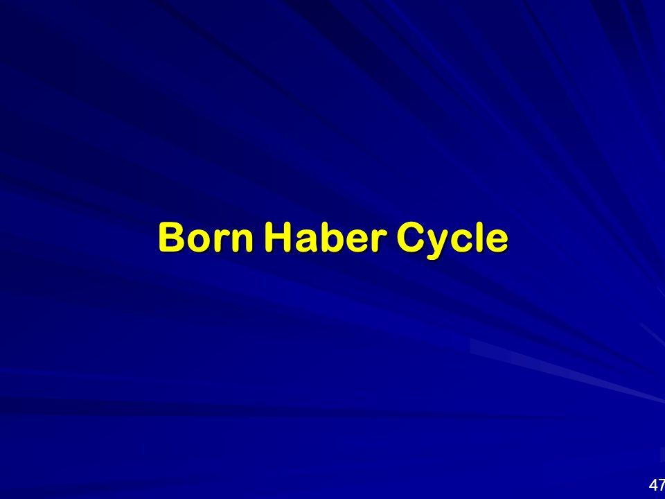 Born Haber Cycle 47