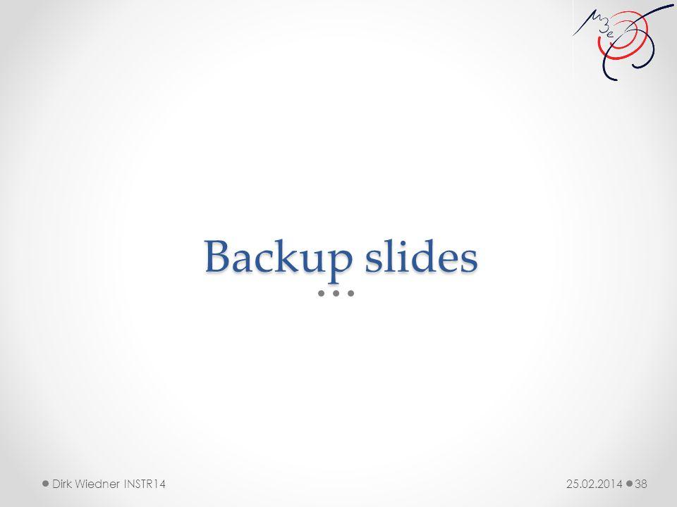 Backup slides 25.02.2014Dirk Wiedner INSTR14 38