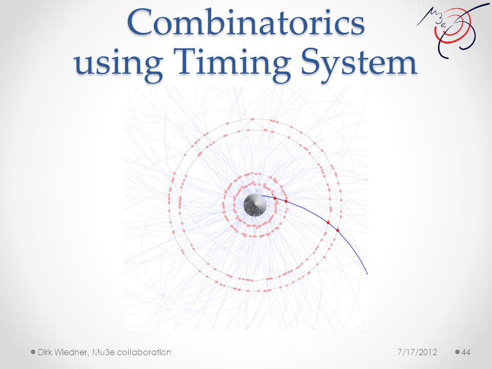 Combinatorics using Timing System 7/17/2012Dirk Wiedner, Mu3e collaboration 44