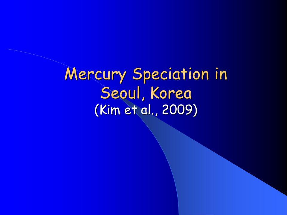 Mercury Speciation in Seoul, Korea (Kim et al., 2009)