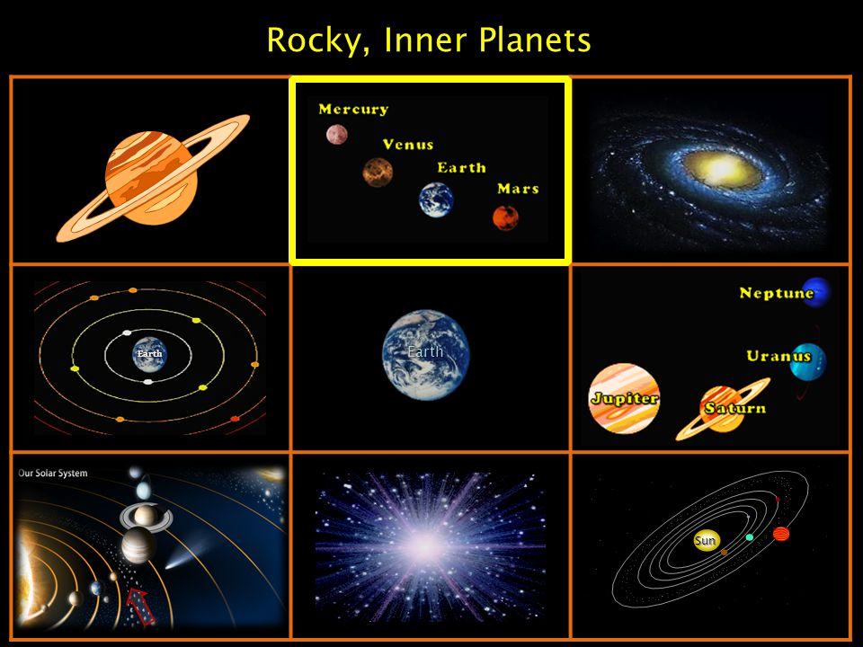 Rocky, Inner Planets Sun Earth Earth