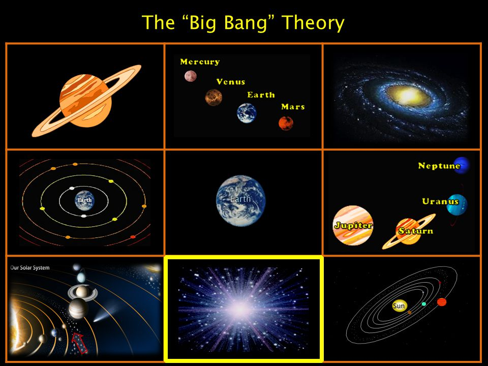 "The ""Big Bang"" Theory Sun Earth Earth"