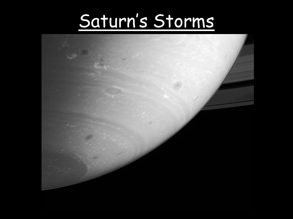 Saturn's Storms