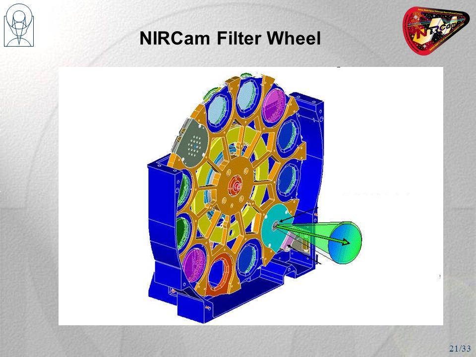 NIRCam Filter Wheel 21/33