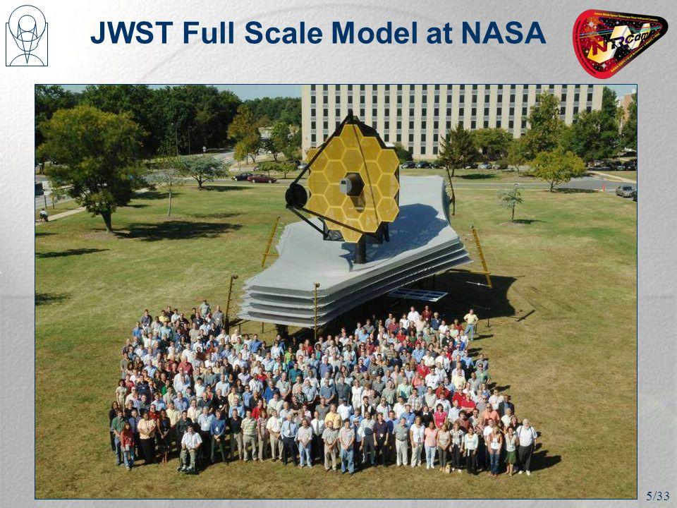 JWST Full Scale Model at NASA 5/33