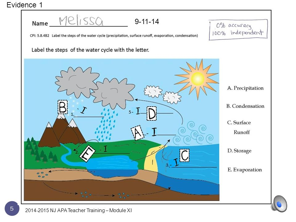 15 Evidence 1 2014-2015 NJ APA Teacher Training – Module XI
