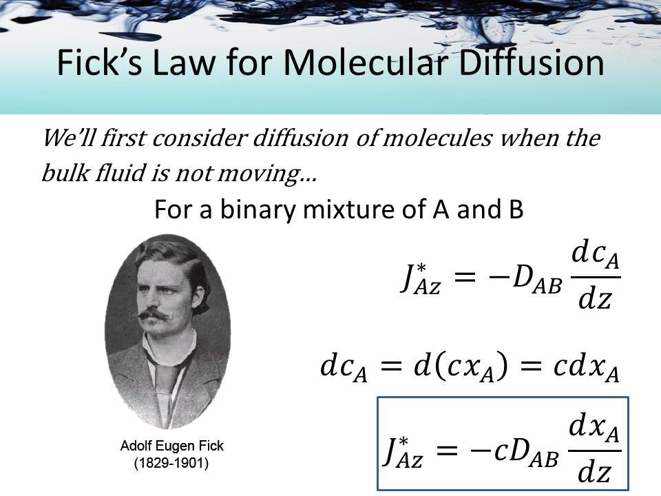 Molecular Transport Equations RECALL: MOMENTUM HEAT MASS