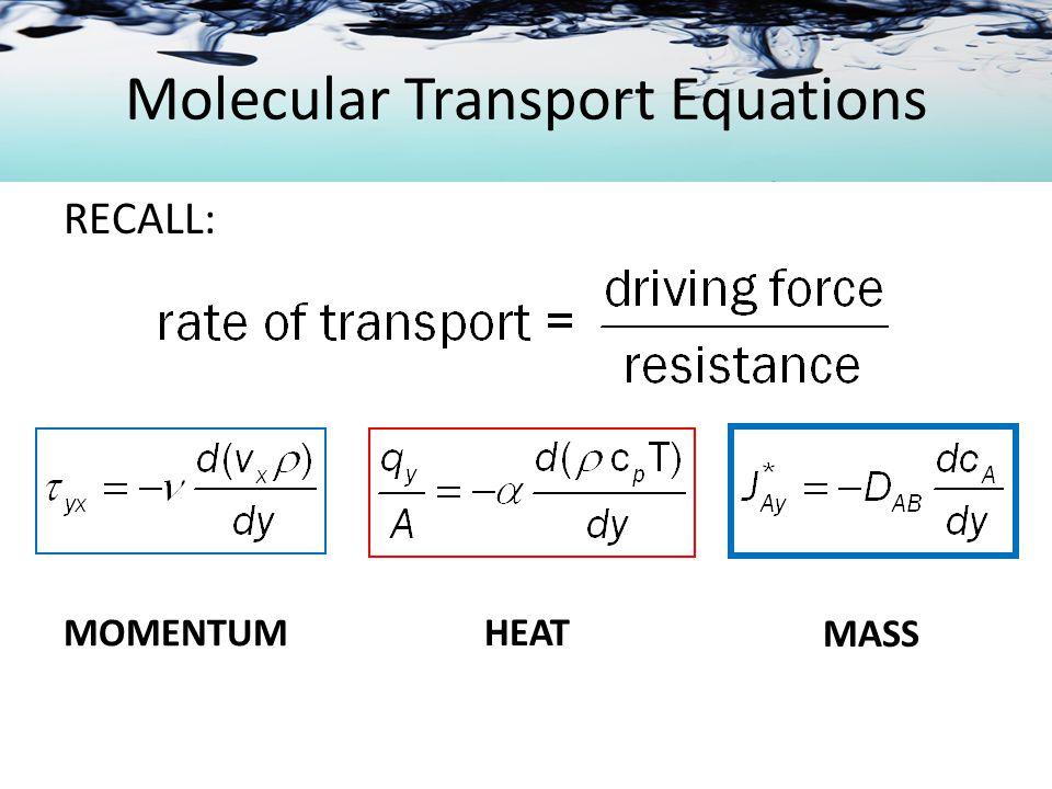 Molecular Diffusion in Gases Diffusion plus Convection
