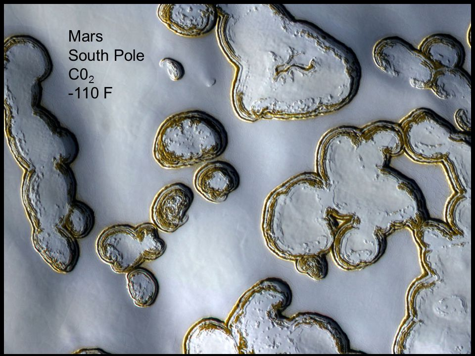 Copyright © 2010 Pearson Education, Inc. Mars South Pole C0 2 -110 F