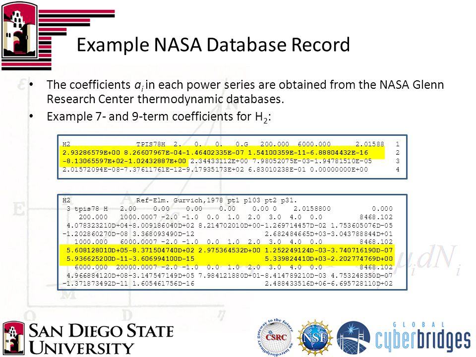 Example NASA Database Record H2 Ref-Elm.Gurvich,1978 pt1 p103 pt2 p31.