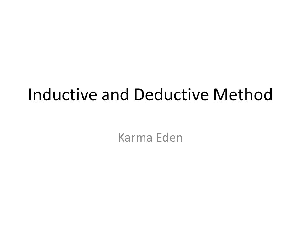 INDUCTIVE METHOD Definition It is a teaching method that promotes learning through inductive reasoning where skills of observation, comparing, classifying are used to arrive at generalizations or definition of concepts.