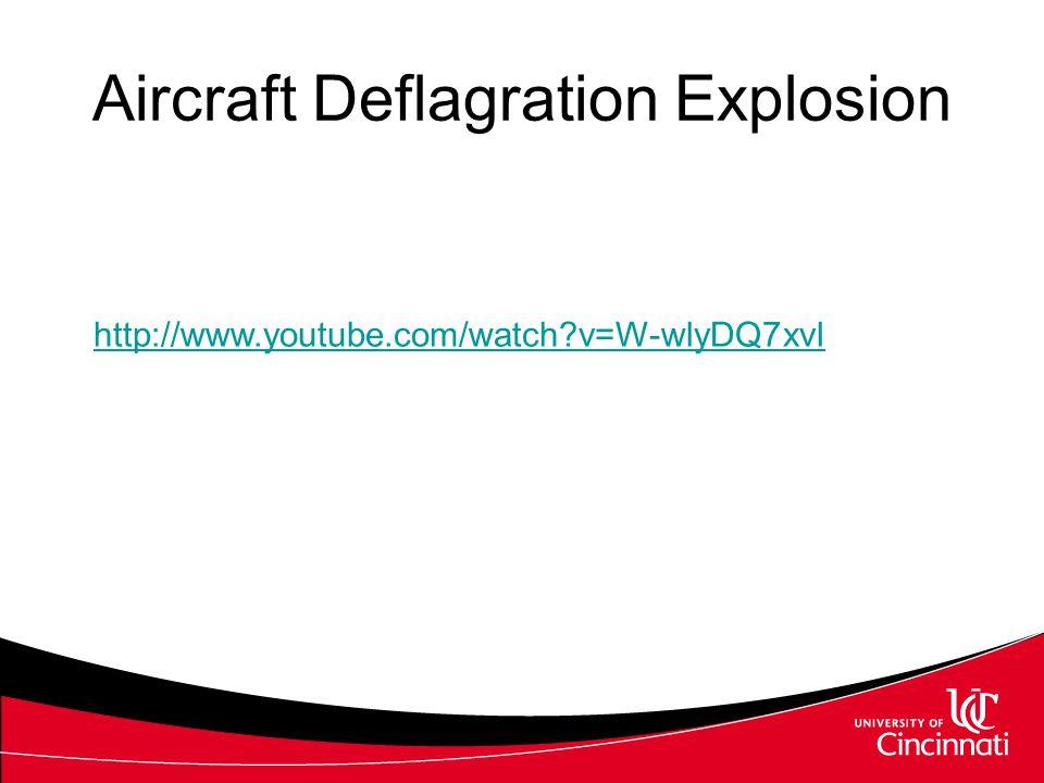 Aircraft Deflagration Explosion http://www.youtube.com/watch?v=W-wlyDQ7xvI