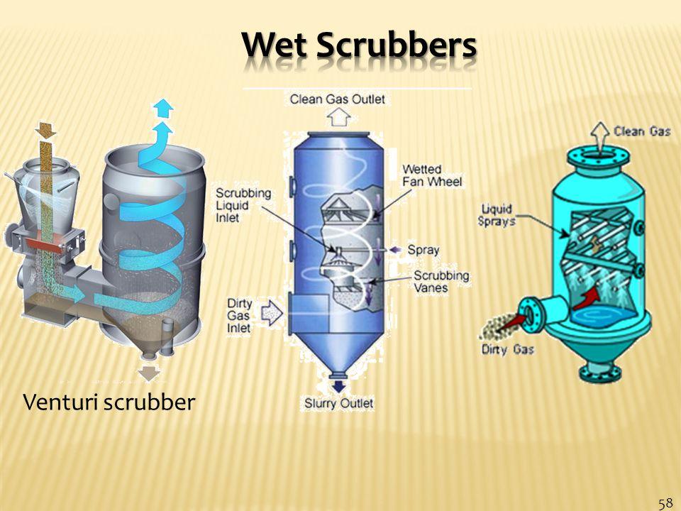 Venturi scrubber 58