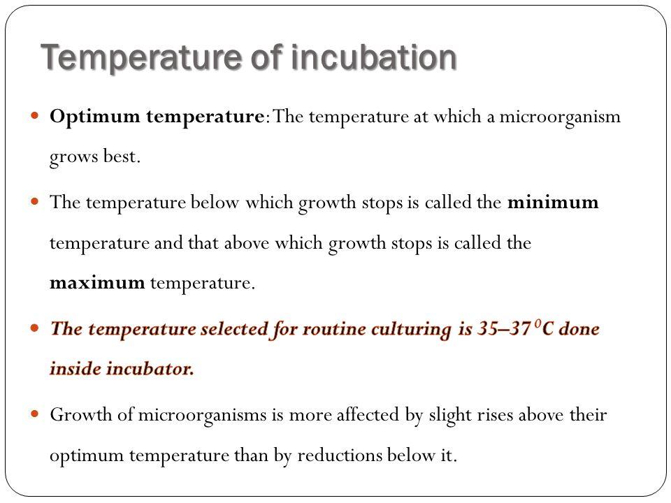 Temperature of incubation