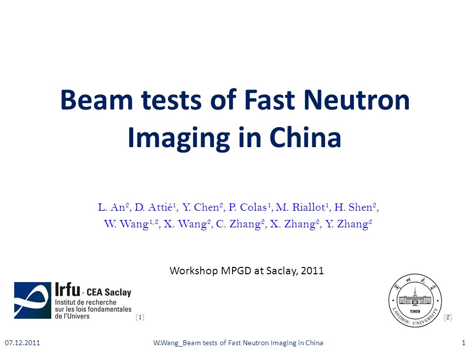 Beam tests of Fast Neutron Imaging in China L.An 2, D.