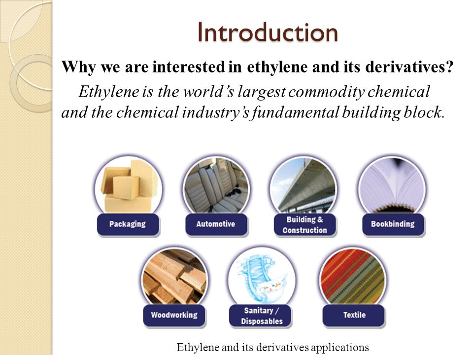 Introduction Why we are interested in ethylene and its derivatives.