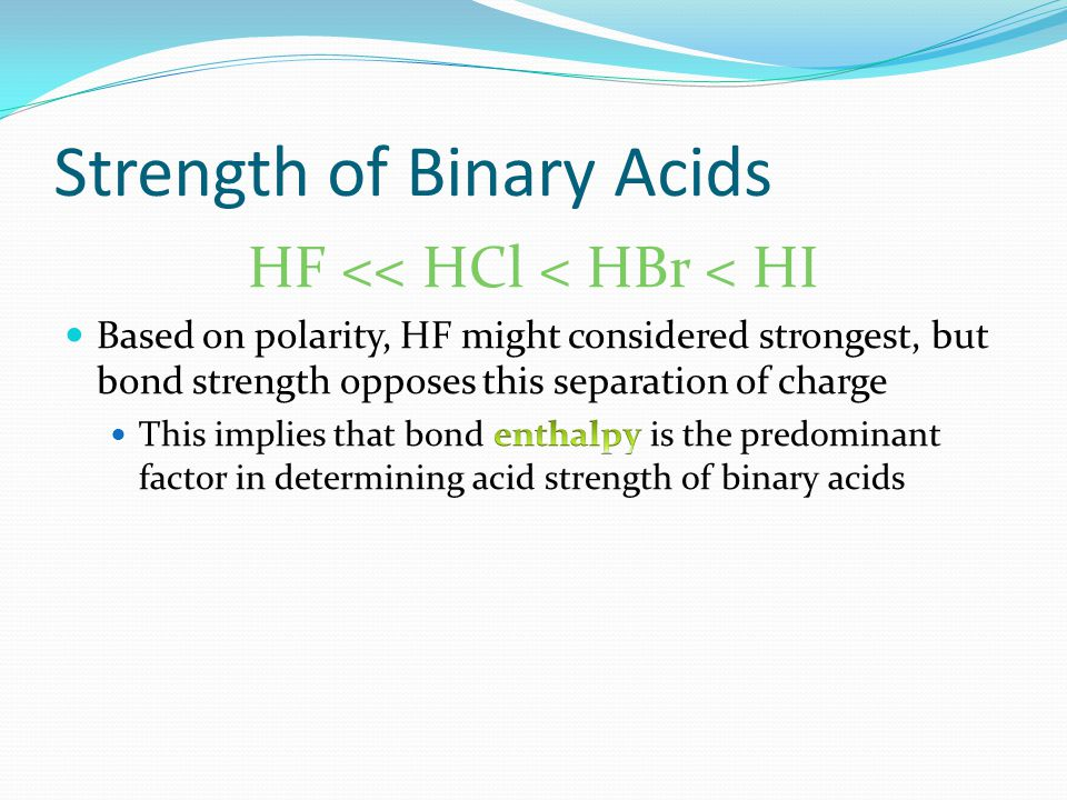 Molecular Structure and Strength of Acids