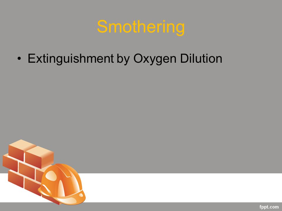 Smothering Extinguishment by Oxygen Dilution