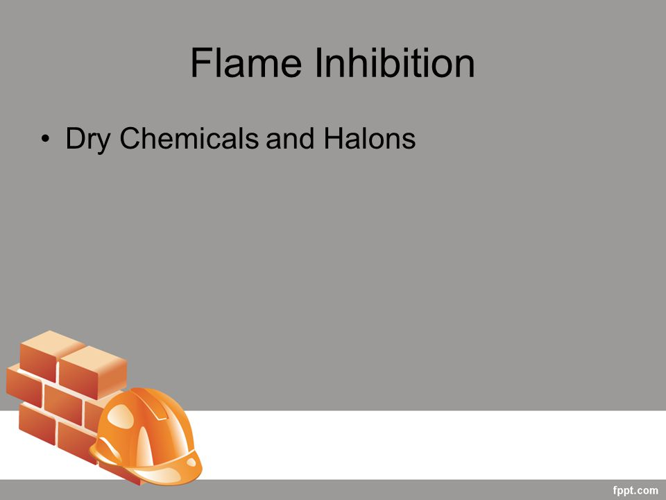 Flame Inhibition Dry Chemicals and Halons