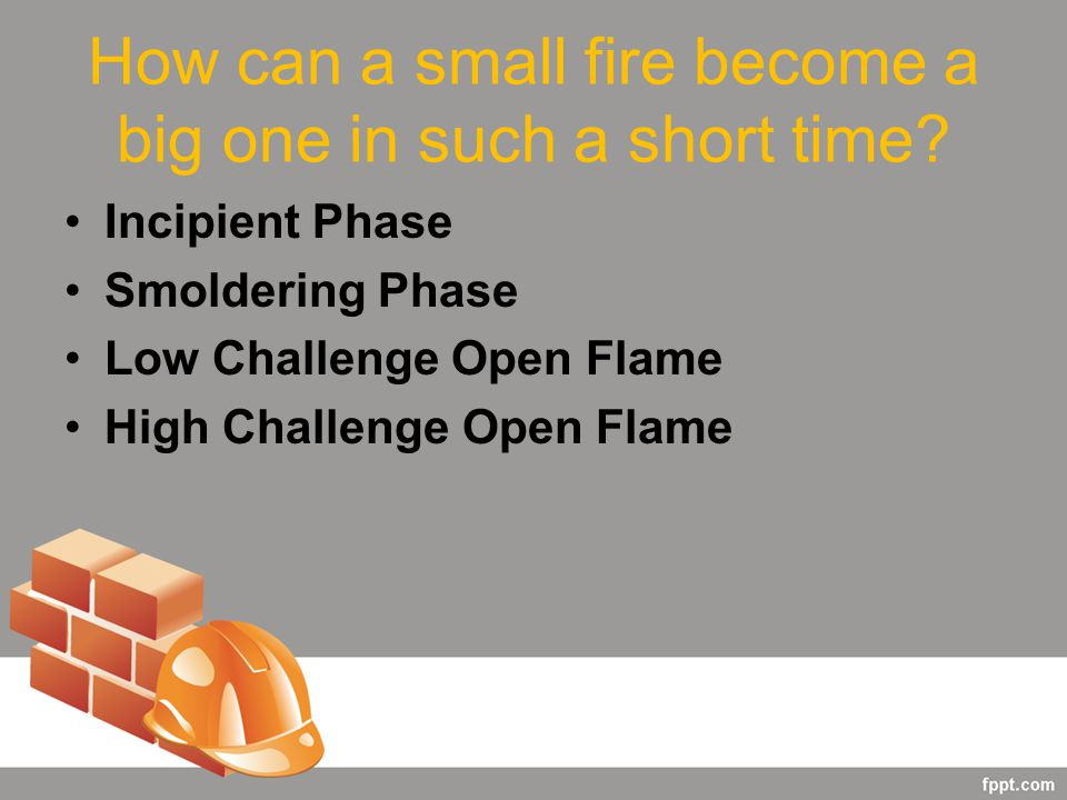 How can a small fire become a big one in such a short time.