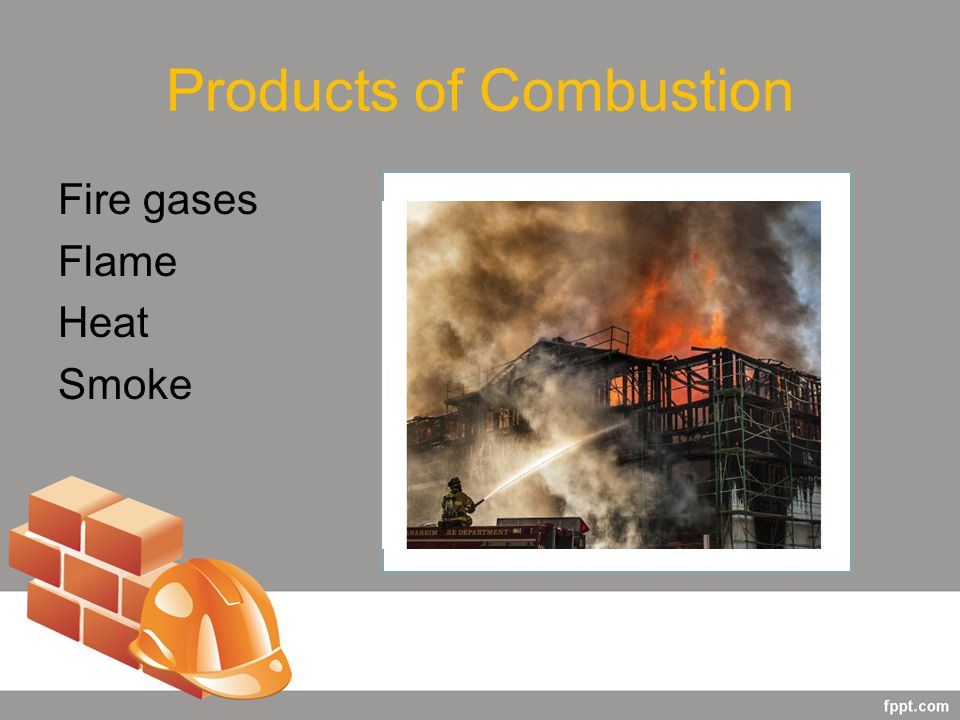 Products of Combustion Fire gases Flame Heat Smoke