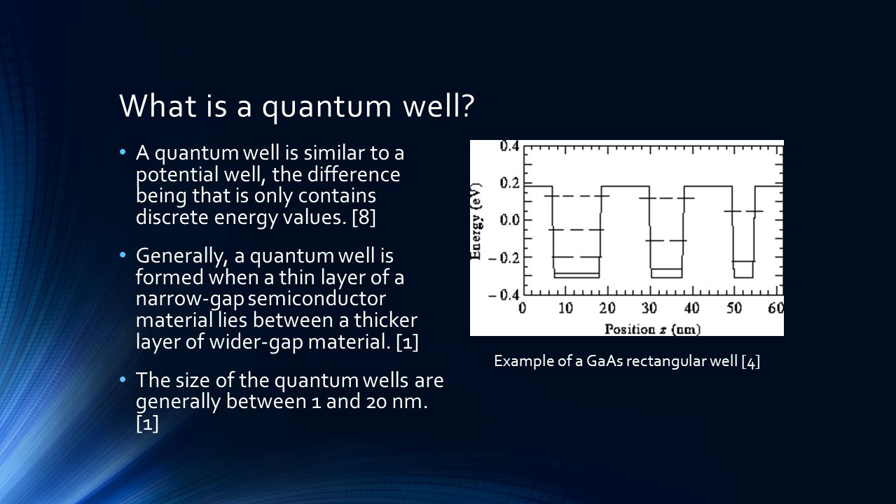 What is a quantum well.
