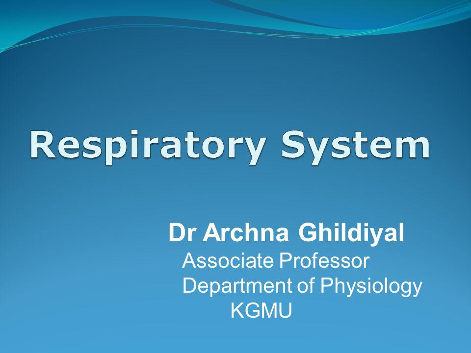 Dr Archna Ghildiyal Associate Professor Department of Physiology KGMU