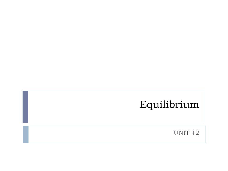 Equilibrium UNIT 12