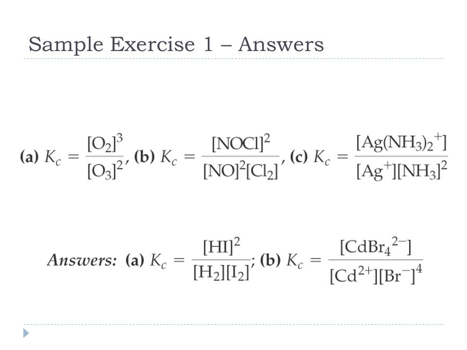 Sample Exercise 1 – Answers