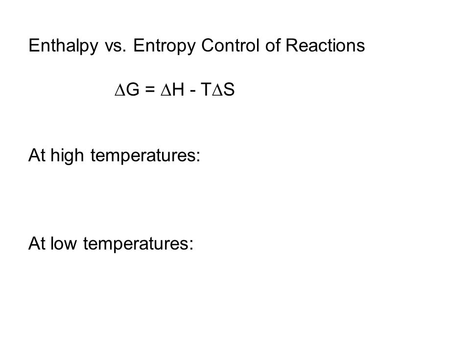 Enthalpy vs.