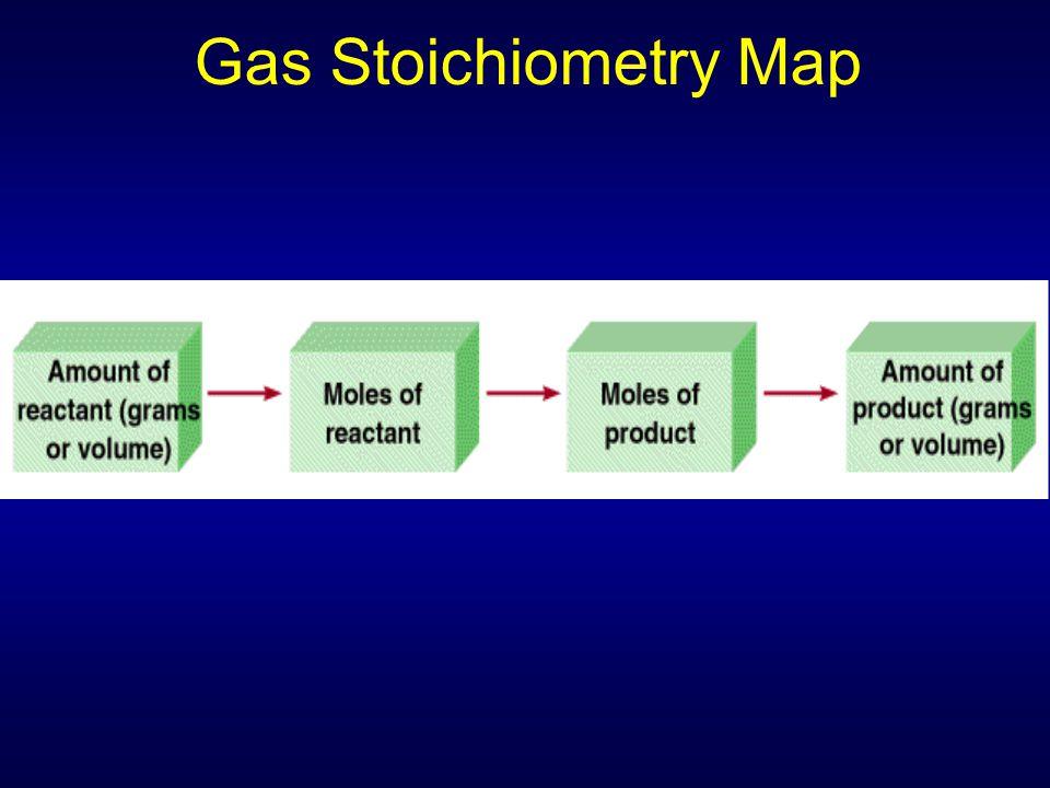 Gas Stoichiometry Map