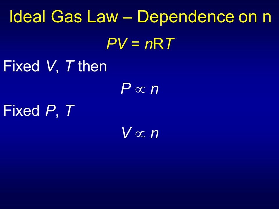 Ideal Gas Law - Deviations Polar molecules have larger attractive forces between particles and generally do not behave as ideal gases at low T where slower-moving particles can be affected by these forces Large gas particles occupy more space and deviate more from ideal gases at high density (high P, low T) where there is less empty space