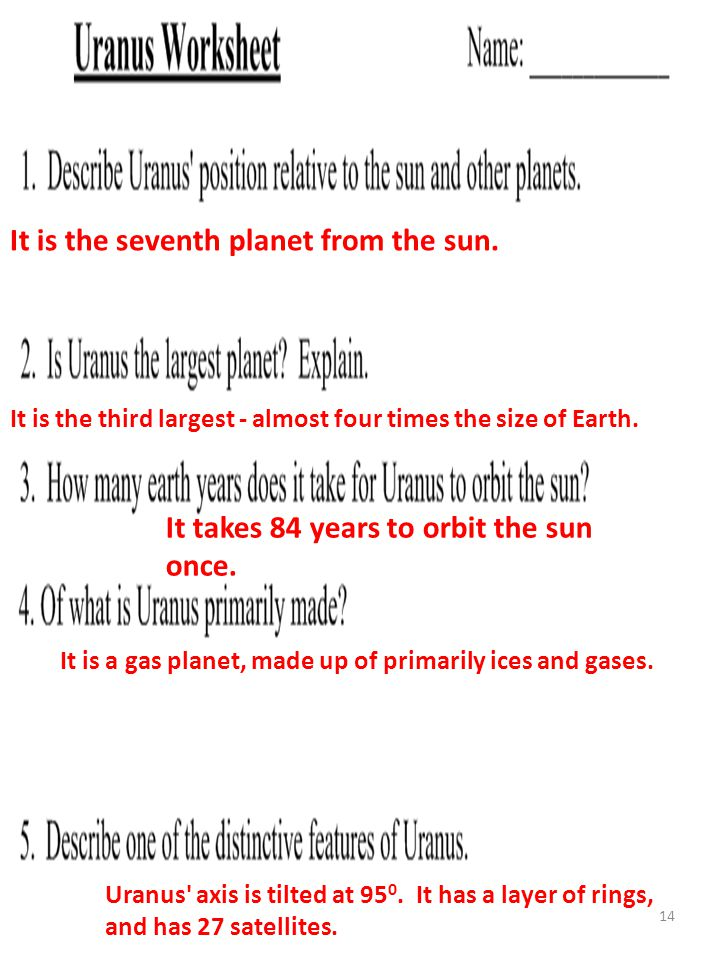 14 It is the seventh planet from the sun.