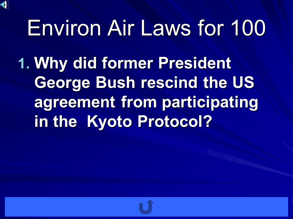 Environ Air Laws for 100 1.
