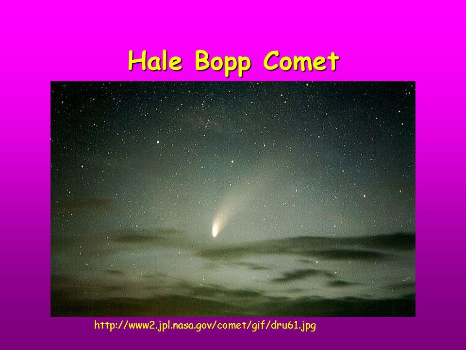 Hale Bopp Comet http://www2.jpl.nasa.gov/comet/gif/dru61.jpg