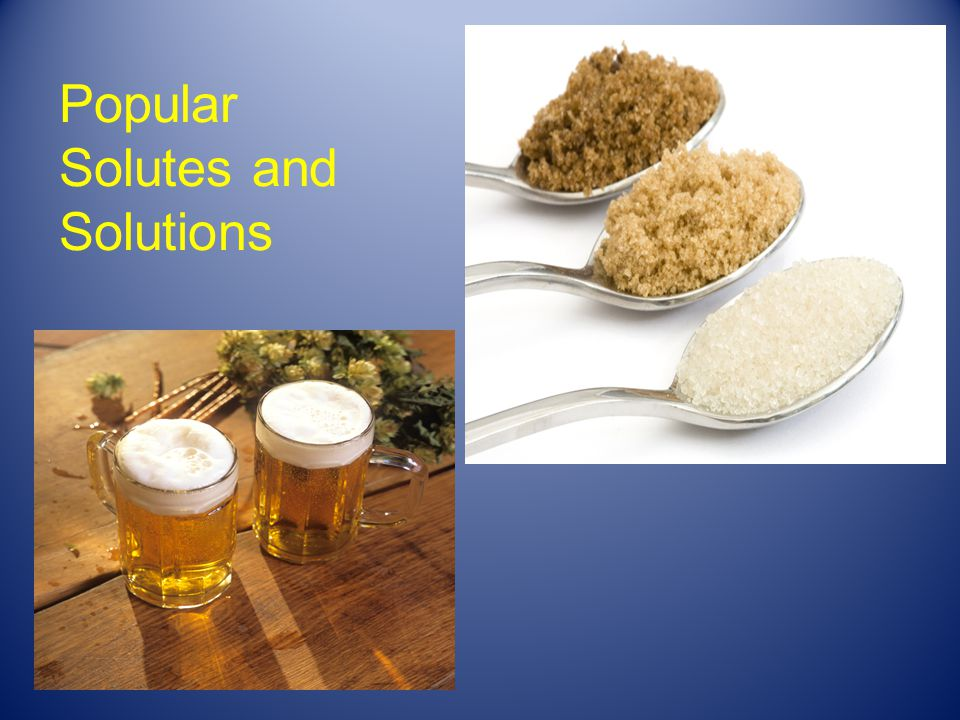 Popular Solutes and Solutions