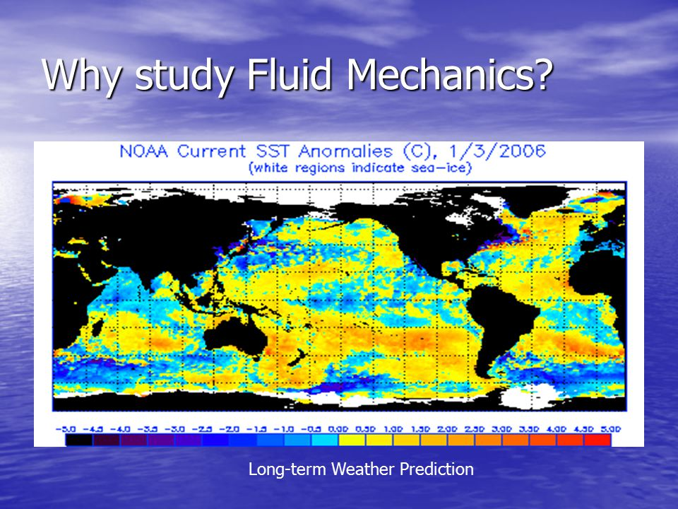 Why study Fluid Mechanics Long-term Weather Prediction