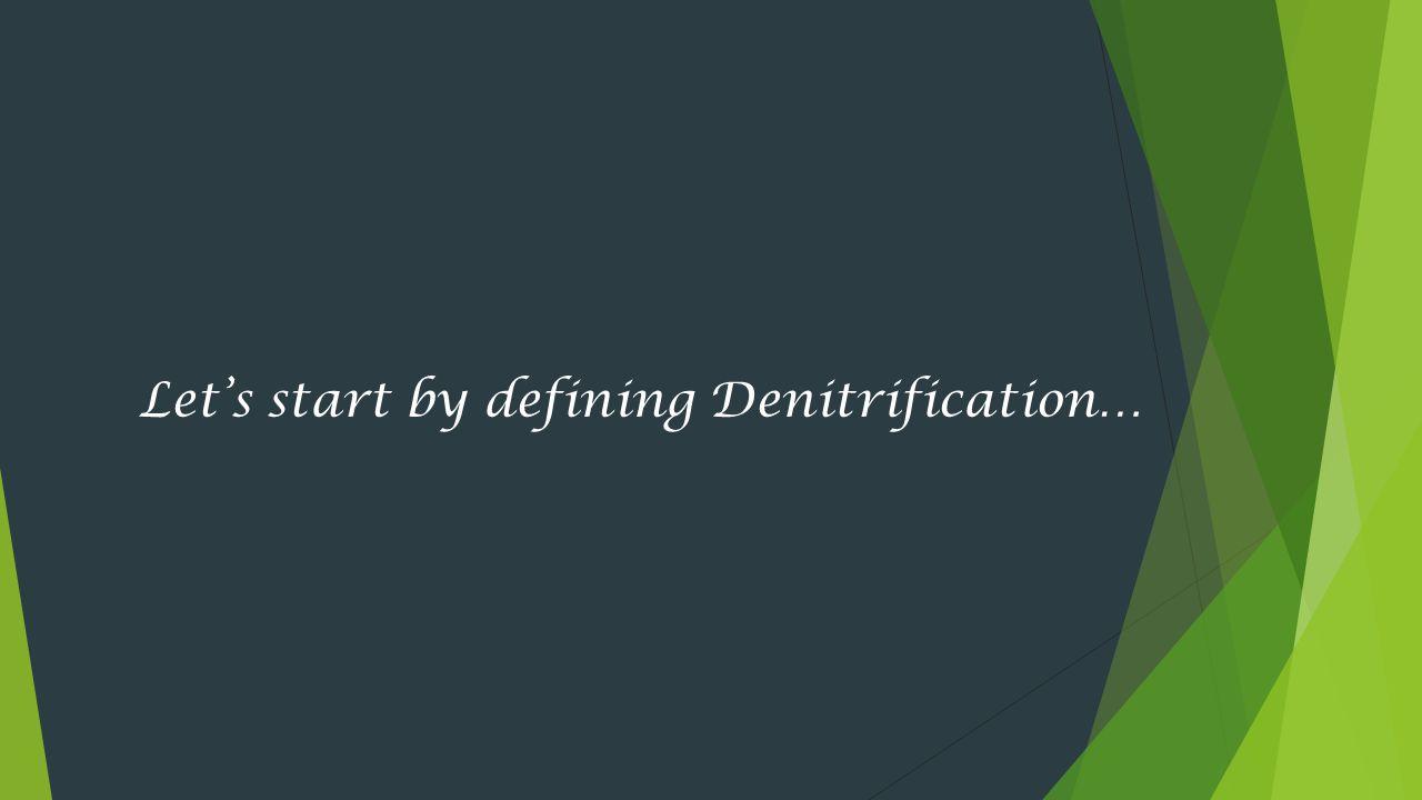 Let's start by defining Denitrification…