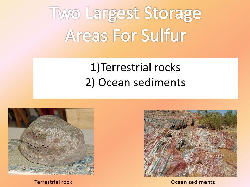 1)Terrestrial rocks 2) Ocean sediments Terrestrial rockOcean sediments