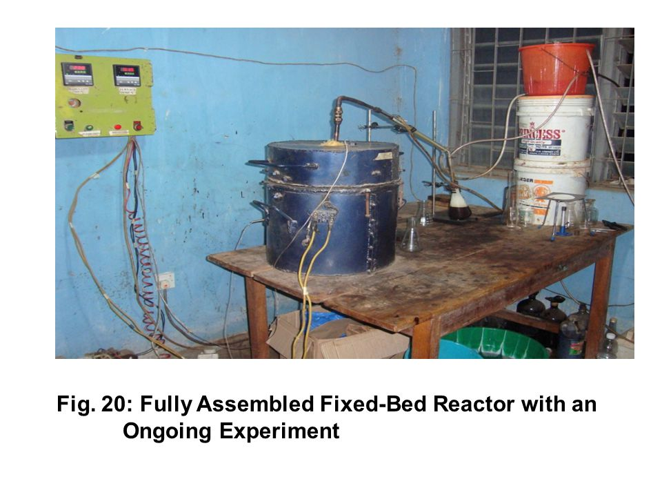 9 Fig. 20: Fully Assembled Fixed-Bed Reactor with an Ongoing Experiment