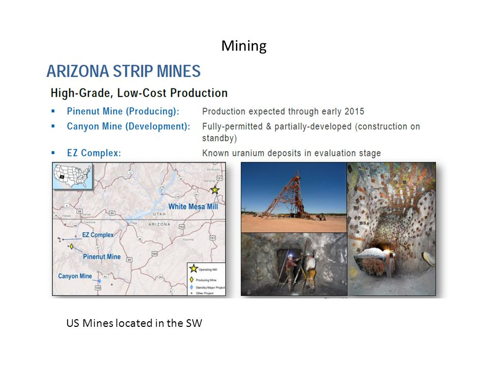 Mining US Mines located in the SW