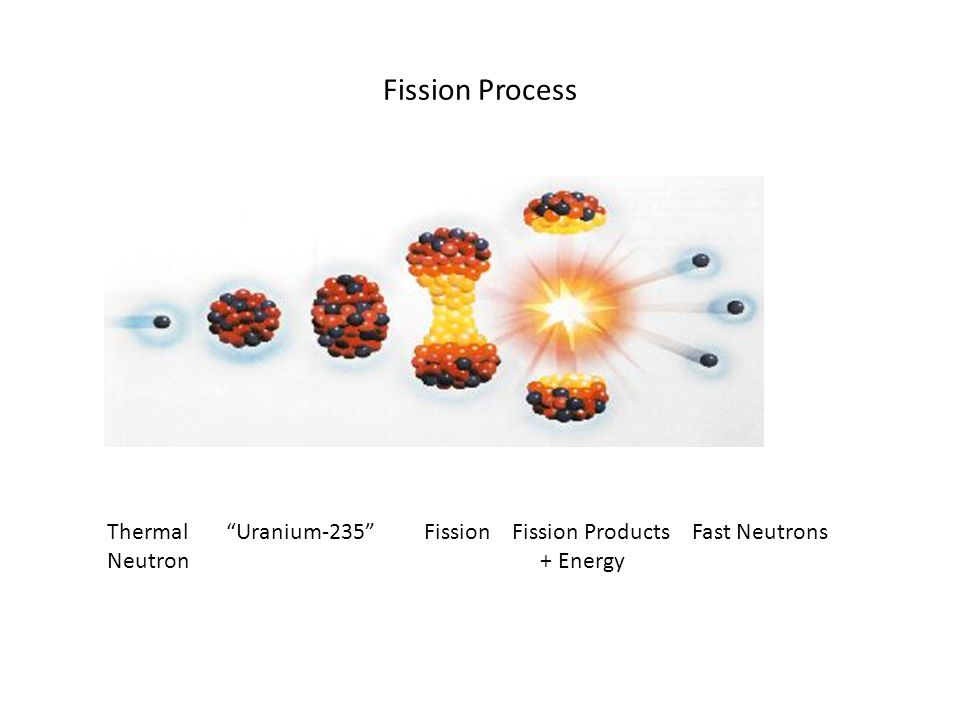Fission Process Thermal Uranium-235 Fission Fission Products Fast Neutrons Neutron + Energy