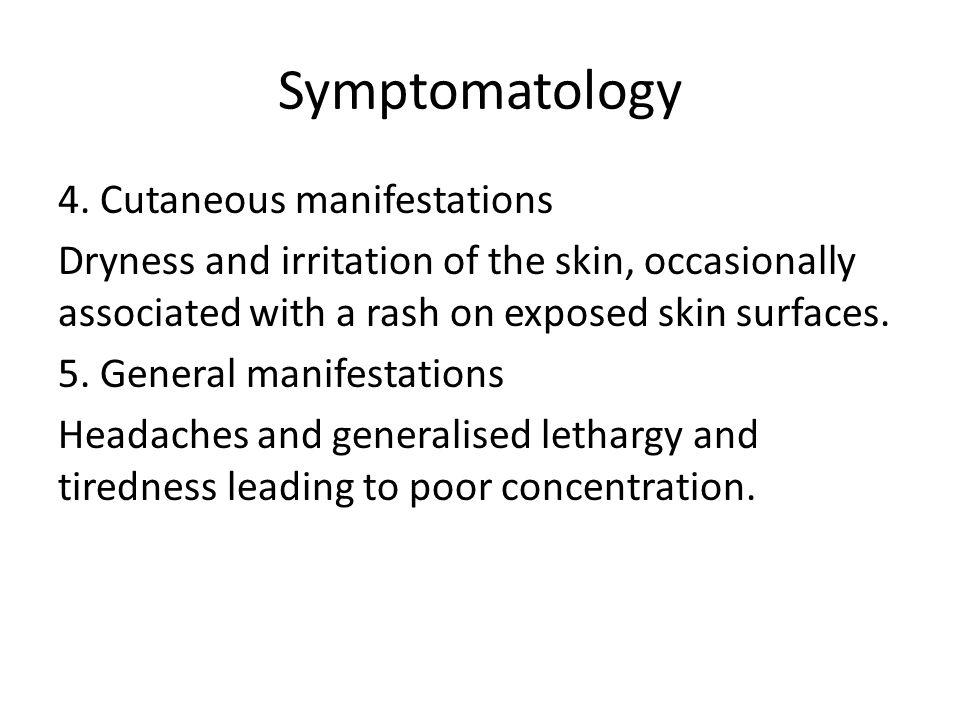 Symptomatology 4.