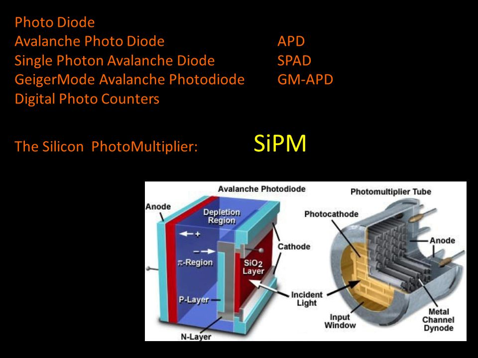 Photo Diode Avalanche Photo Diode APD Single Photon Avalanche DiodeSPAD GeigerMode Avalanche PhotodiodeGM-APD Digital Photo Counters The Silicon Photo
