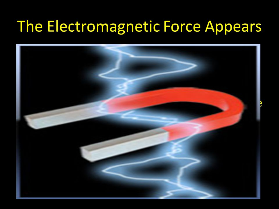 The Electromagnetic Force Appears As the Universe further expands and cools, the electromagnetic force separates out.