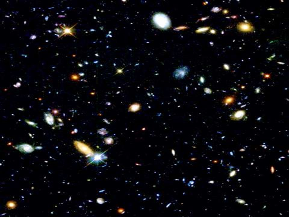 Cosmology: the study of the universe itself, including the history, origins, and fate.