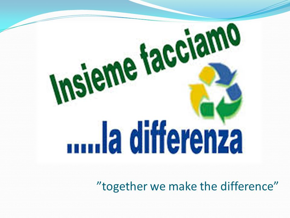 together we make the difference